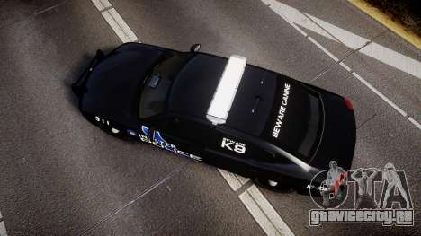 Dodge Charger 2010 Police K9 [ELS] для GTA 4 вид справа