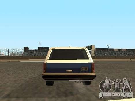 Rancher Four Door для GTA San Andreas вид снизу