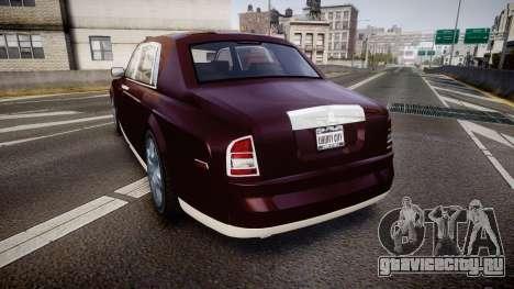 Rolls-Royce Phantom EWB v3.0 для GTA 4 вид сзади слева