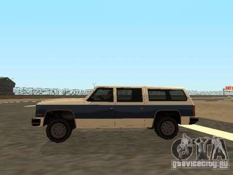 Rancher Four Door для GTA San Andreas вид изнутри