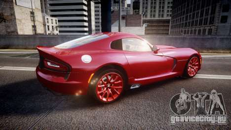 Dodge Viper SRT 2013 rims1 для GTA 4 вид слева