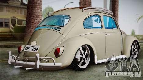 Volkswagen Fusca 1974 для GTA San Andreas вид слева
