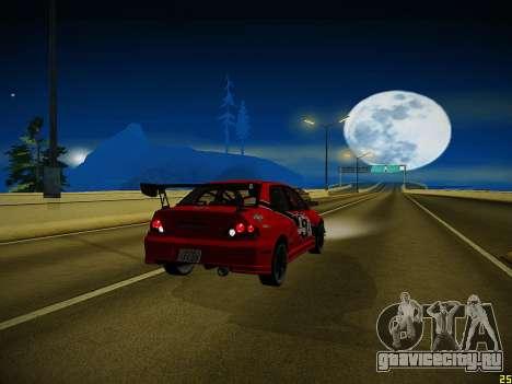 Mitsubishi Lancer Tokyo Drift для GTA San Andreas вид снизу