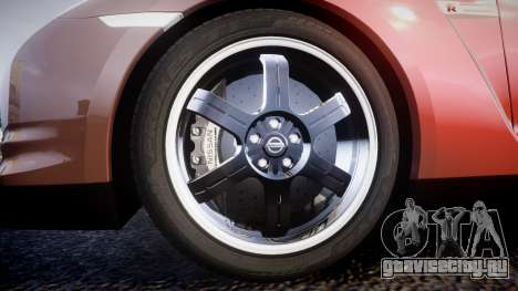 Nissan R35 GT-R V.Spec 2010 для GTA 4 вид сзади