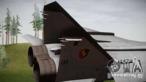 MIG 31 Estovakian Air Force для GTA San Andreas вид сзади слева