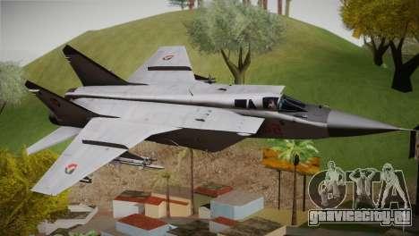 MIG 31 Estovakian Air Force для GTA San Andreas
