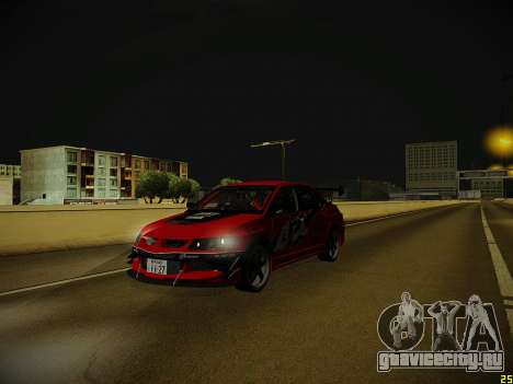 Mitsubishi Lancer Tokyo Drift для GTA San Andreas вид сверху