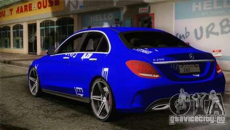 Mercedes-Benz C250 AMG Edition 2014 SA Plate для GTA San Andreas вид слева