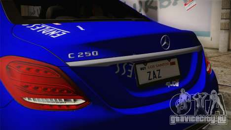 Mercedes-Benz C250 AMG Edition 2014 SA Plate для GTA San Andreas вид сзади