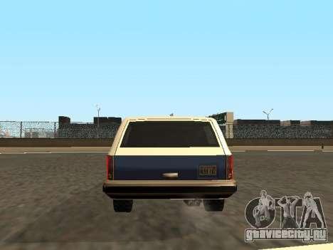 Rancher Four Door для GTA San Andreas салон