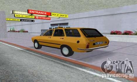 Renault 12 SW Taxi для GTA San Andreas вид слева