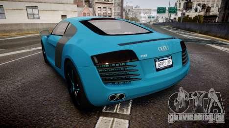 Audi R8 Tron Legacy [EPM] для GTA 4 вид сзади слева