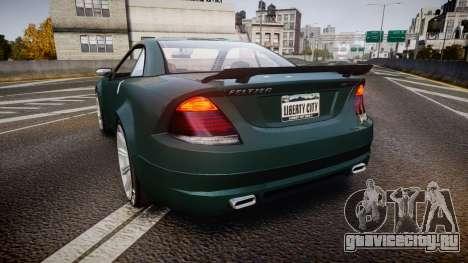 Benefactor Feltzer V8 Sport для GTA 4 вид сзади слева