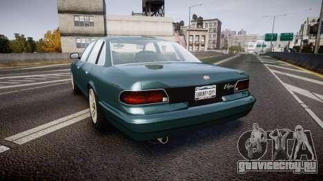 GTA V Vapid Stanier new wheels для GTA 4 вид сзади слева