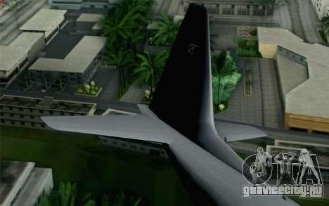 C-130H Hercules Polish Air Force для GTA San Andreas вид сзади слева