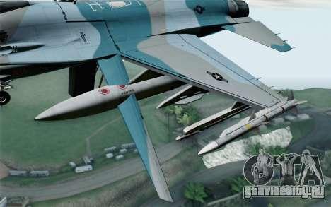 F-16C Fighting Falcon Aggressor BlueGrey для GTA San Andreas вид справа