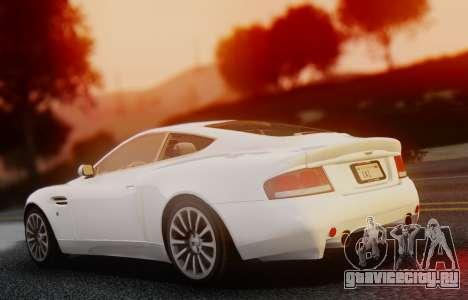 Aston Martin V12 Vanquish 2001 v1.01 для GTA San Andreas вид сзади слева