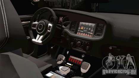 Dodge Charger 2013 LSPD для GTA San Andreas вид справа