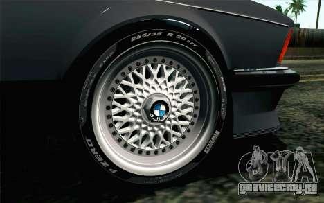 BMW M635CSI E24 1986 V1.0 EU Plate для GTA San Andreas вид сзади слева