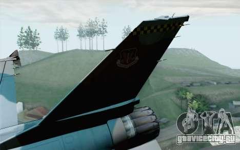 F-16C Fighting Falcon Aggressor BlueGrey для GTA San Andreas вид сзади слева