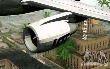 Embraer EMB-175 LOT Polish Airlines для GTA San Andreas вид справа