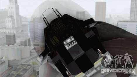 F-16 Scarface Squadron для GTA San Andreas вид сзади