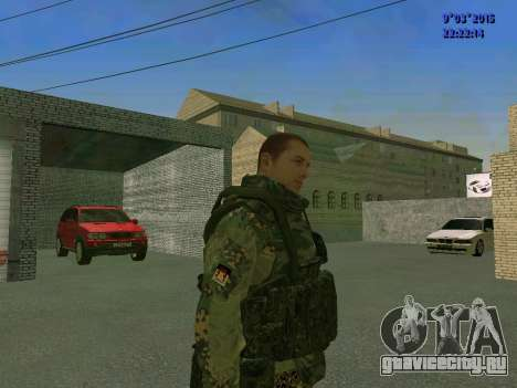 Боец из батальона Спарта для GTA San Andreas второй скриншот
