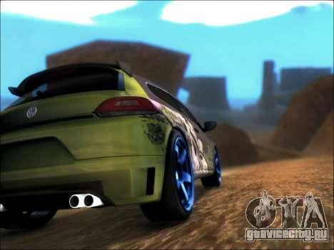 Volkswagen Scirocco Tunable для GTA San Andreas вид сзади слева