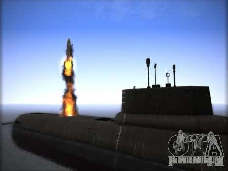 АПЛ проекта 941 Акула для GTA San Andreas третий скриншот