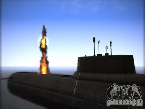 АПЛ проекта 941 Акула для GTA San Andreas