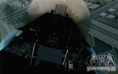 F-16C Fighting Falcon NSAWC Blue для GTA San Andreas вид сзади