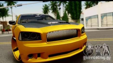 Dodge Charger SRT8 2006 Tuning для GTA San Andreas вид сзади слева