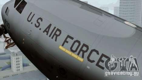C-17A Globemaster III USAF McGuire для GTA San Andreas вид справа