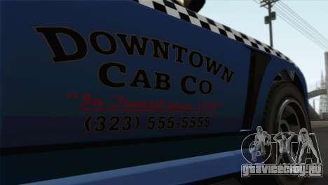 GTA 5 Bravado Buffalo S Downtown Cab Co. для GTA San Andreas вид сзади