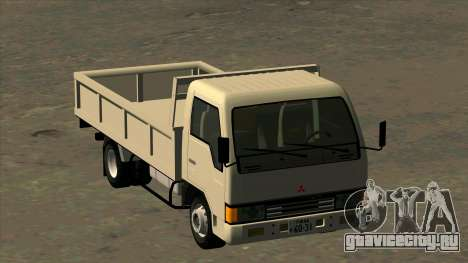 Mitsubishi Fuso Canter 1989 Flat Body для GTA San Andreas вид сзади