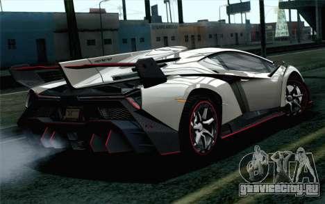 NFS Rivals Lamborghini Veneno для GTA San Andreas вид слева