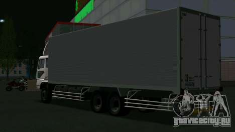 Mitsubishi Fuso The Great Box для GTA San Andreas вид сзади слева