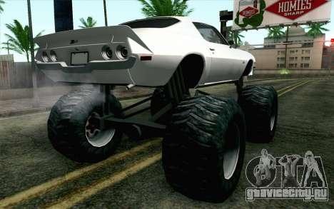Chevrolet Camaro Z28 Monster Truck для GTA San Andreas вид слева