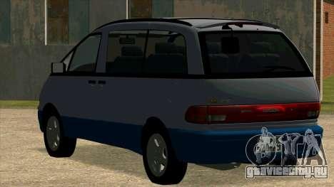 Toyota Estima Lucida 1990 для GTA San Andreas вид справа