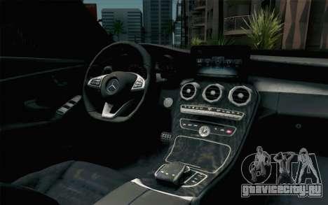 Mercedes-Benz C250 AMG Brabus Biturbo Edition для GTA San Andreas вид сзади
