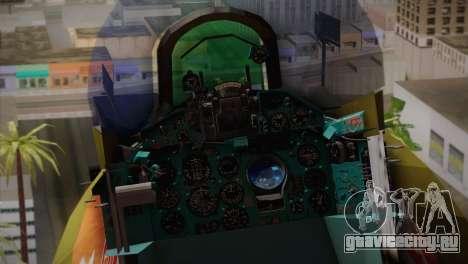 MIG 21 Russian Camo Force для GTA San Andreas вид сзади