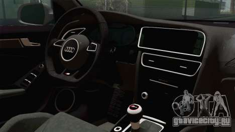Audi S4 Avant 2013 для GTA San Andreas вид сзади
