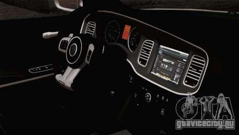 Dodge Charger SXT Premium 2014 для GTA San Andreas вид справа