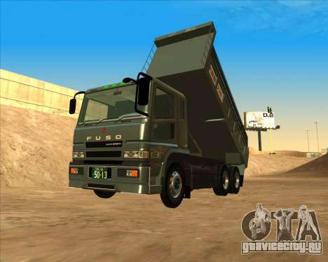 Mitsubishi Fuso Super Great Dump Truck для GTA San Andreas вид сзади слева
