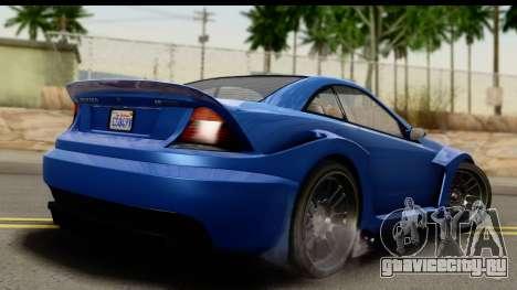 GTA 5 Benefactor Feltzer IVF для GTA San Andreas вид слева