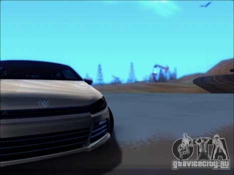 Volkswagen Scirocco Tunable для GTA San Andreas вид изнутри