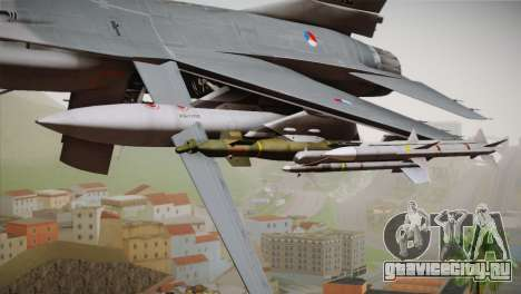 F-16 Fighting Falcon RNLAF Solo Display J-142 для GTA San Andreas вид справа