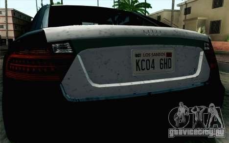 GTA 5 Karin Kuruma v2 SA Mobile для GTA San Andreas вид справа