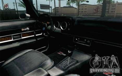 Chevrolet Camaro Z28 Monster Truck для GTA San Andreas вид справа
