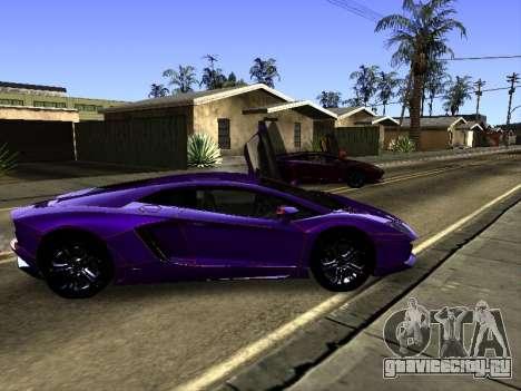 Lamborghini Aventador Tron для GTA San Andreas вид снизу